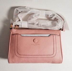 Marc Jacobs Rose Leather Crossbody Handbag